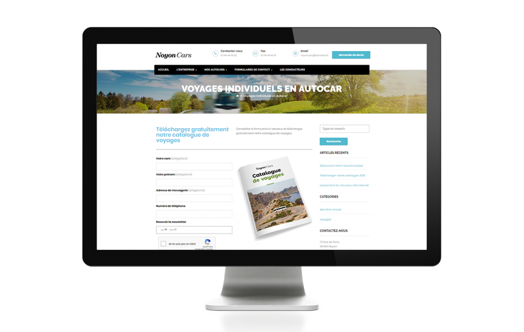 site CMS wordpress responsive design Noyon Cars conception agence web oise